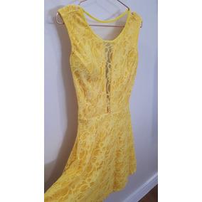 Vestido Amarelo Com Renda