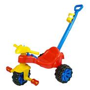 Triciclo Toy Kids Vermelho 2 Em 1 Com Haste Para Empurrar