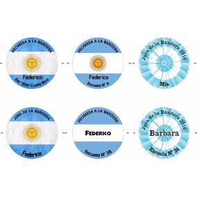 Juramento Promesa Bandera Pin Prendedor Personalizado 56mm