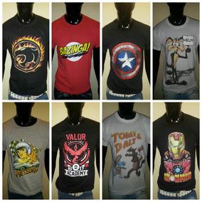 Lote 6 Remeras De Algodon Del Xs Al Xxxl. Comics, Otros.fabr