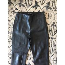 Calça Legging Couro Preta Zara Nova