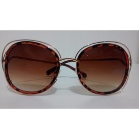 Oculos De Sol Feminino Modelo Carlina Dourado/tartaruga