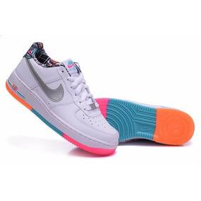 Nike Air Force One Blancas Suela Arcoiris Ingreso!!!