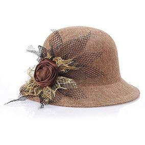 Mujer Flores Verano Sombrero De Paja Playa Sol Sombrero Gor 6723b6cf750