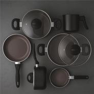 Conjunto De Panelas 6 Pçs Ceramic Smart Plus Preto- Brinox