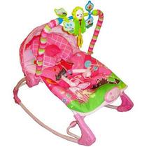 Cadeirinha Bebê Descanso Musical Vibratória Rocker Rosa