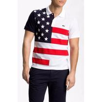 Camiseta Lacoste Polo Paises Estados Unidos - Masculina
