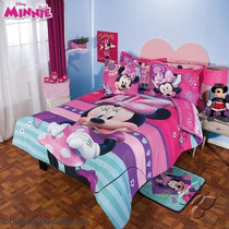Miinnie Mouse Edredon Ind Cojin Colcha Ninos 6pc Clubhouse *