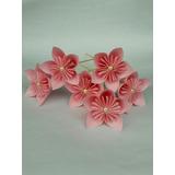 Flores De Papel Origami Media Docena Souvenir Decoración