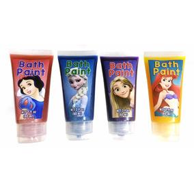 Tintas De Banho Das Princesas (kit Com 4 Cores)