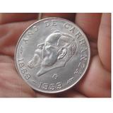 Moneda Conmemorativa Del Año De Carranza 1859-1959 (plata)