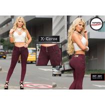 Jeans Pantalones Corte Alto Levanta Cola Colombianos De Dama