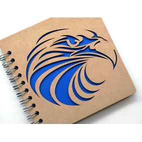 Libreta Madera Corte Láser Águila Americana
