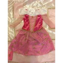 Disfraz Vestido Princesa De Disney Store Talle 4 Prin Auror