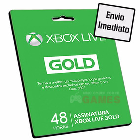 Cartão Xbox Live Gold 48 Horas - Xbox Live 2 Dias