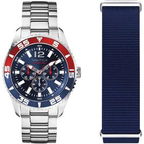 Reloj Nautica Caballero Acero Original Napwhc002
