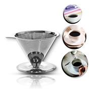 Coador De Café Pour Over Inox Tam 103 G Não Precisa Filtro