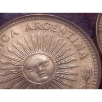 Argentina Monedas 10 Pesos 1977 Y 1978 Error, Empastada