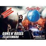 Ingresso Rock In Rio 23/09 Guns N Roses - Meia