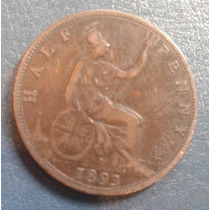 Moneda Half Penny 1893 Inglaterra