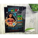Moana Tarjeta Invitación Cumpleaños Editable Imprimíble