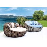 Sofa Redondo De 1,50cm Para Area Externa Piscina Jardim Sala