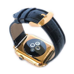 Apple Watch 42mm 1ra Gen Chapa Oro 24k + Correas Croco Y Oro