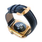 Apple Watch 42mm 1ra Gen Chapa Oro 24k + Correas Croco Y Oro