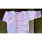 Chaleca Para Bebé Tejida A Crochet. Talla 3 A 24 Meses.
