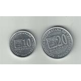 Set Monedas De 10 Y 20bs 2004