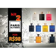 Kit 2 Perfumes Paris Elysees 100ml Variados - Original