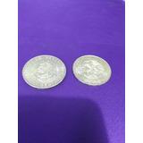 Monedas De Plata De Hidalgo 10 Pesos 1956 Y Olimpiada 25ps