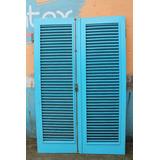 Porta Balcão Madeira 2,10 X 1,40 Completa (ferragem Vidro)