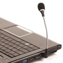 Microfone Flexível Para Notebook Tablet Ipad Mesa De Som P2