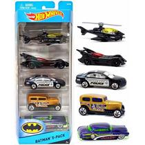 ¡¡ Hot Wheels Batman 5 Pack Batimovil, The Joker, Etc. !!