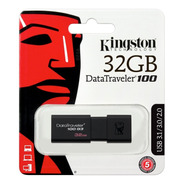 Pendrive Kingston 32gb Usb 3.0 3.1 Datatraveler 100