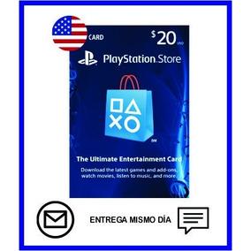 Tarjeta Playstation Store Usa $20 Dolares Entre Inmediata