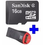 Cartão Memória Micro Sd 16gb P/celular Nokia Samsung +leitor