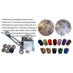 Maquina Y Kits Diamantados Desbaste Y Pulido Pisos Concretos