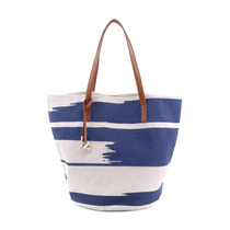 Bolsa Estampada. Branca & Azul Royal. 27,5x12,5cm - Arezzo