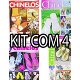 Kit 4 Revista Chinelo Decorados Artesanado Havaiana Sandália