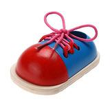 Chinatera Niños Early Teaching Woode Lacing Zapatos Jugu...