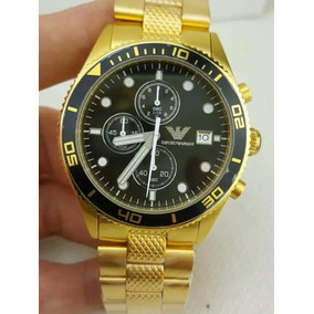 Relógio Emporio Armani Ar5857 Original Banhado A Ouro
