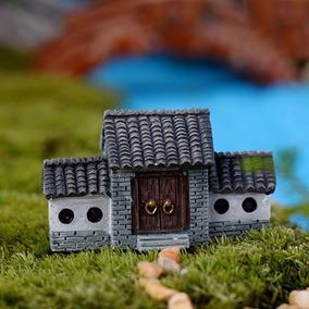 1 Casa Vila Terrários Mini Jardim Fadas Miniaturas Maquetes