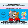 Kit Imprimible Tom Y Jerry + Candy Bar