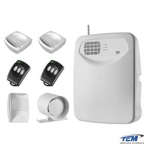 Kit Central De Alarme Com Discador Tem Flex-435 Sem Fio