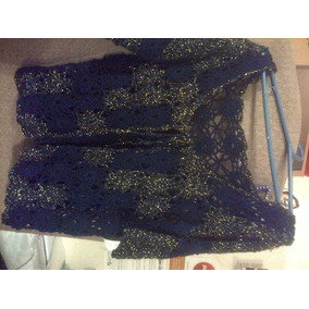 Chaqueta / Chaleco Detalles Y #brillos Tejido #crochet