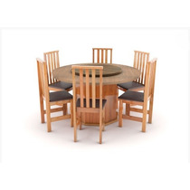 Mesa Redonda Giratória Com 6 Cadeiras Alta