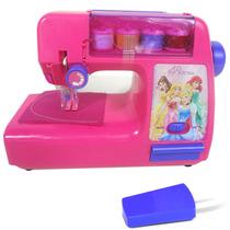 Máquina Infantil Atelie De Costura Das Princesas Disney Rosa