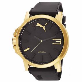 Relógio Puma Masculino Dourado Borr Pu102941004 Frete Gratis